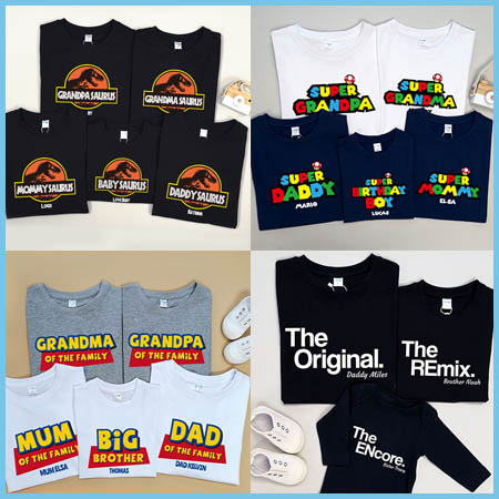 Custom Design Family T-Shirts